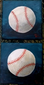 Baseball Teal background small