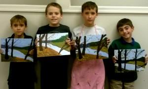 Boys Landscape class