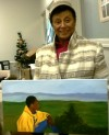 Jean with Grandson's painting