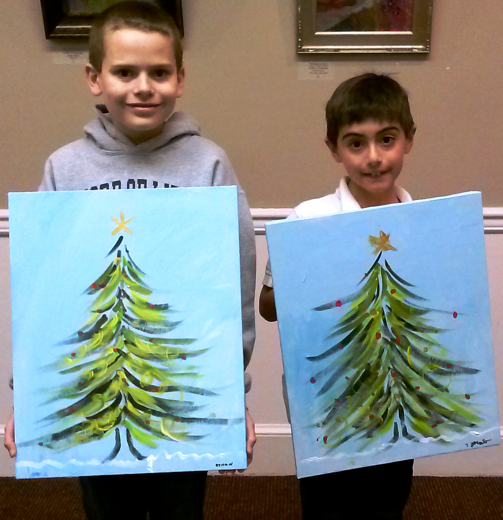 Christmas Paintings For Kids.O Christmas Tree A Place For Learning
