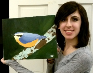 Hannah with Blue Bird