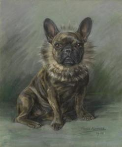 French Bulldog in Collar Persis Kirmse (British, 1884-1955)