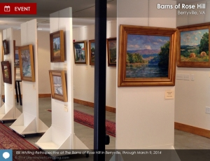 Bill Whiting exhibit photo by Laura Henderson