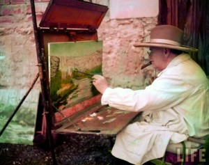 Winston Churchill Painting