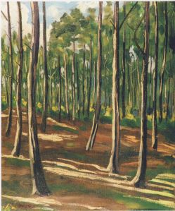 Woodland Scene Near Mimizan by Winston Churchill