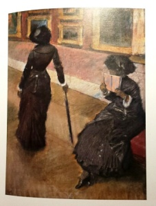 Degas, Mary Cassatt at the Louvre: The Paintings Gallery, 1885, private collection.