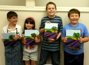 Kids Paint Lavender