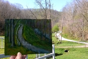 Subject for Painting Lane to Sassafras Farm