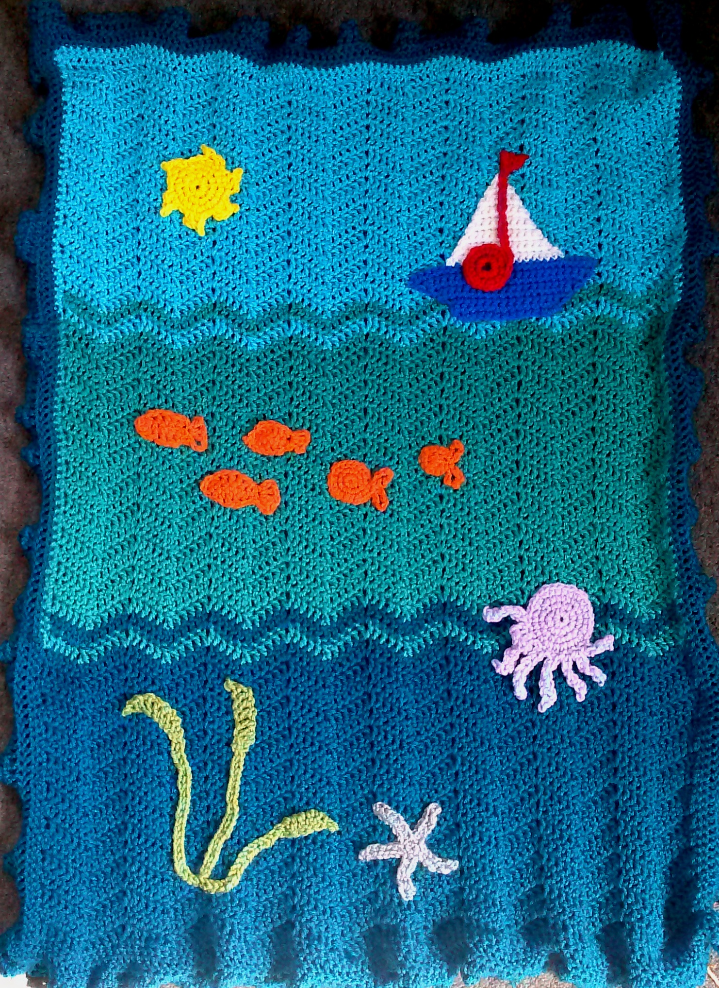 Crochet Under The Sea Blanket Quot Life Of A Daily Painter Quot