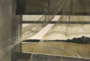 Andrew Wyeth, Wind from the Sea, 1947, tempera on hardboard, National Gallery of Art, Gift of Charles H. Morgan, 2009.