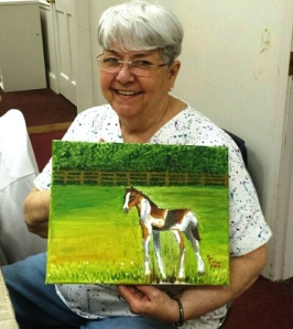 Pat with Pony Painting