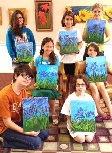 """Monet's Lilac Irises"""