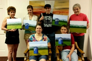 Dr. Who Paint Party