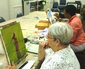 Pat and Jean Painting