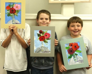 Kids Paint Florals