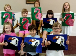 Art Camp 2014 Session 2 paints Warhol