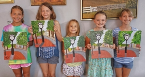 Art Campers Paint Town Clock
