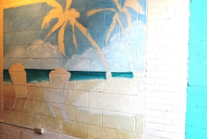 Mural with Ocean and Sand laid in