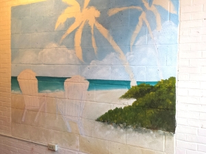 Mural with Sand Shrubs laid in