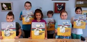 """Art Camper Paint Van Gogh's """"Sprig of Almond"""""""