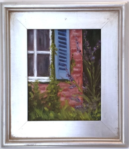 """Blue Gate"" 8""x10"" oil, framed"