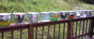 Painted Buckets from the Retreat