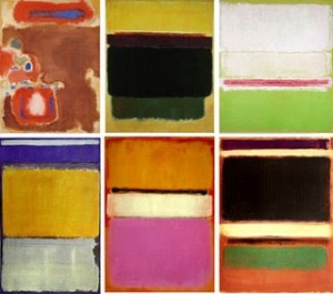 Samples of Rothko's color block paintings