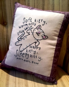 Soft Kitty Pillow