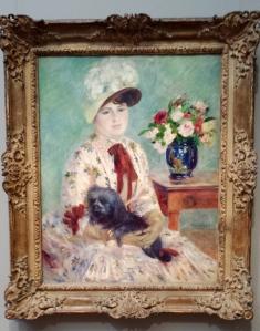 "Auguste Renoir, ""Mlle Charlotte Berthier"", oil on canvas, 1883"