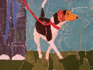 Paper Painting - Walking the Dog