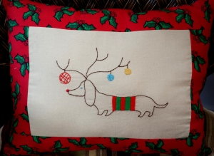 Embroidery Christmas Dog 2