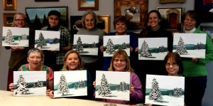 Paint Party Winter Trees 1st Sat