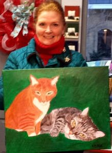 Pet Portrait Carol Ann Hold til after Christmas