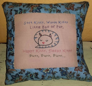 Another Soft Kitty pillow