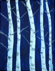 Demo Birch Painting