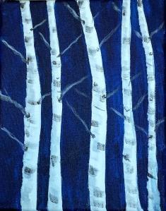 Demo Birch Painting