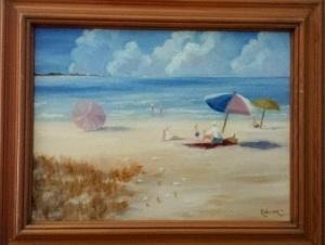 Beach Scene Debbies 1996