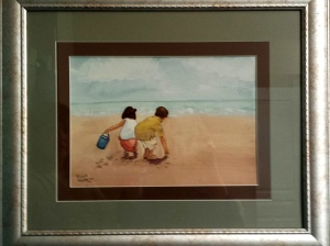 Beach Scene in Watercolor Debbies