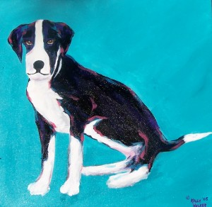 Painting of Bella as a Pup