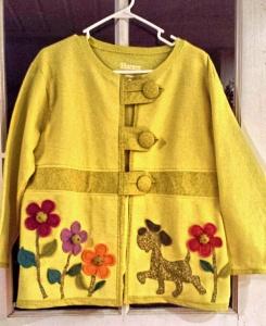 Sweatshirt Jacket with Embellishments