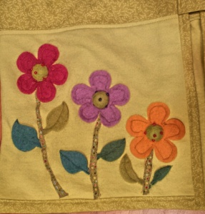 Felt Flowers & Leaves with cotton stems
