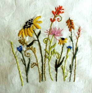 Embroidery Wildflower Sampler