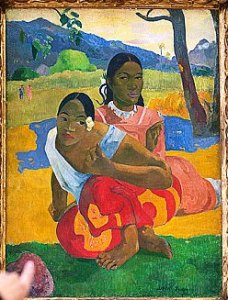 'Nafea faa ipoipo' (When will you marry?, 1892) by French painter Paul Gauguin