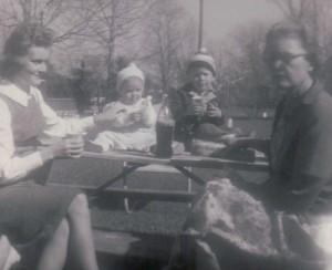 Mama, me, Brother & Big Mama - 1961