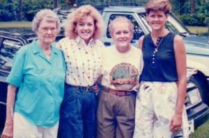 Big Mama, me, Mama, and Sister -early 90's