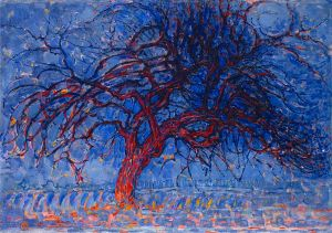 Piet Mondrian 1908-10, Evening Red Tree_oil