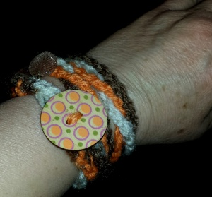 Stash Buster bracelets orange brown white