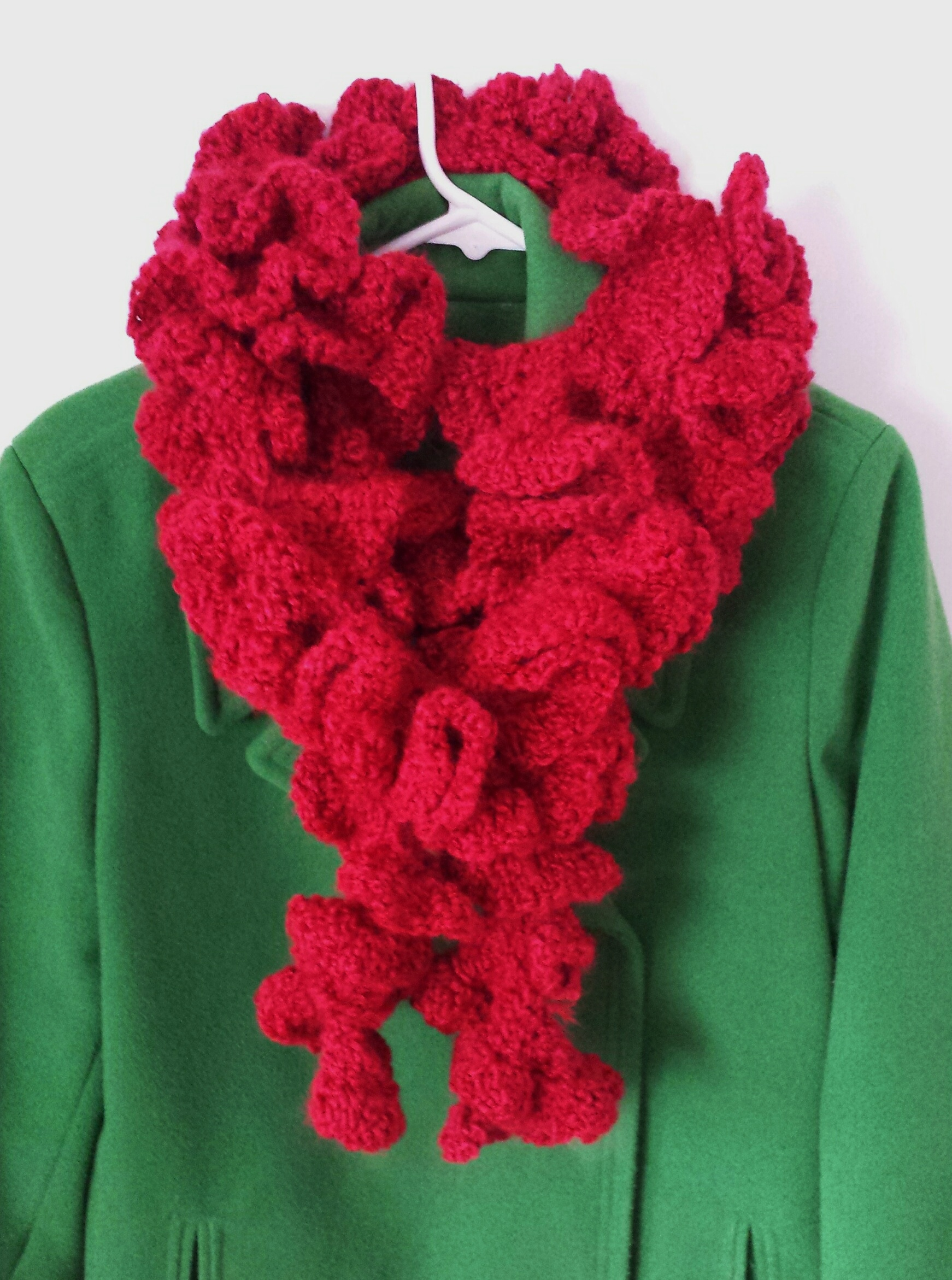 Crocheted Ruffle Scarf A Place For Learning