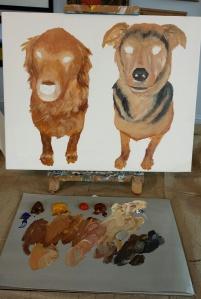 A Pet Portrait commission in progress