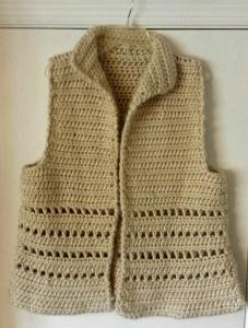 Vest in bulky yarn